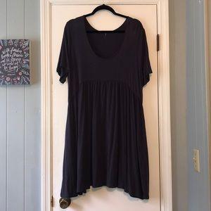 Annabelle Babydoll Tunic/Dress Slate  w/ Pockets